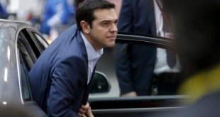 "Greece's Prime Minister Alexis Tsipras arrives at a euro zone leaders summit in Brussels, Belgium, July 12, 2015. Euro zone leaders will fight to the finish to keep near-bankrupt Greece in the single currency on Sunday after the European Union's chairman canceled a planned summit of all 28 EU leaders that would have been needed in case of a ""Grexit"".   REUTERS/Francois Lenoir  - RTX1K2N7"