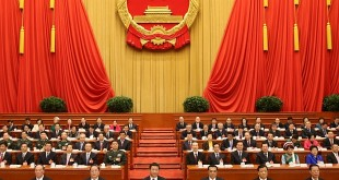 Mandatory Credit: Photo by Xinhua News Agency/REX (4532376a)  Top Communist Party of China (CPC) and state leaders Xi Jinping (C, front), Li Keqiang (3rd R, front), Yu Zhengsheng (2nd L, front), Liu Yunshan (2nd R, front), Wang Qishan (front L) and Zhang Gaoli (front R) attend the closing meeting of the third session of the 12th National People's Congress  12th National People's Congress in Beijing, capital of China - 15 Mar 2015  12th National People's Congress in Beijing, capital of China